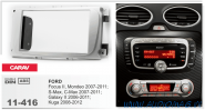 Carav 11-416 (2-DIN FORD Focus II, Mondeo, S-Max, C-Max 2007-2011; Galaxy II 2006-2011; Kuga 2008-2012 (серебро))